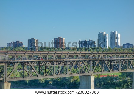 View of the city centre of Egmonton in Canada