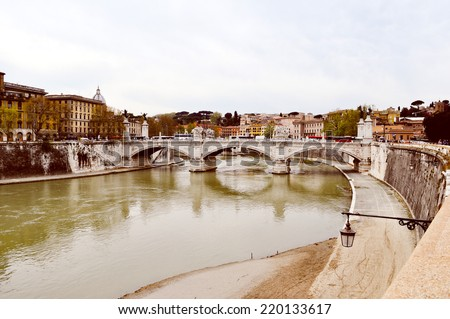 View of the city of Rome, Italy