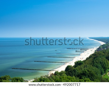 View of the coast, Niechorze, Poland