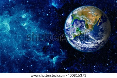 View of the earth from the moon. Elements of this image furnished by NASA