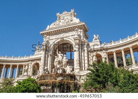 "View of the historic palace ""Longchamp"" of Marseille in South France"
