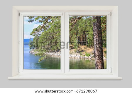 Image Open Window Beautiful Picture Outside Stock Photo