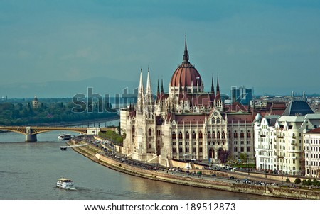 View of the Parliament in Budapest