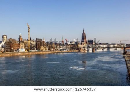 View of the skyline of Frankfurt, Germany