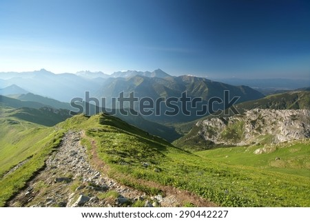 View of the western part of the Tatra Mountains.