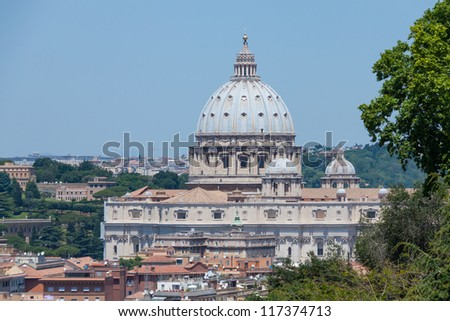 View of  Vatican, Rome, Italy.