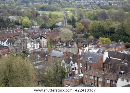 View of Warwick, England, UK