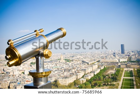 View on Paris from Eiffel tower, Paris, France