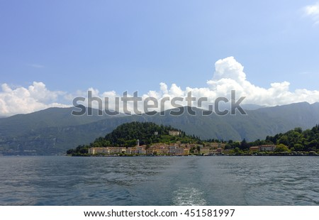 View over lake Como and Bellagio