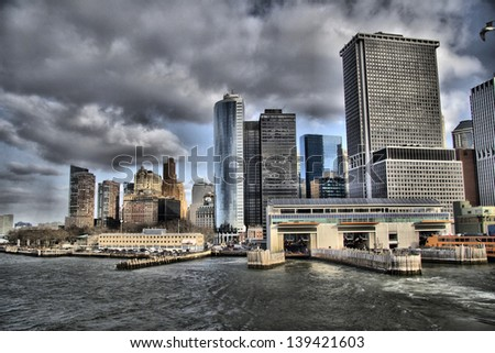View to Manhattan from ferry