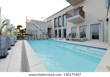 Villa with swimming pool and relaxation bed-6