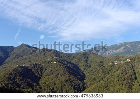Village in castagniccia mountains