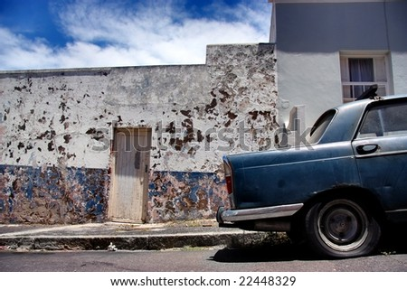 vintage car in bo-kaap. cape town