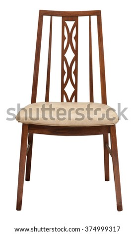 Vintage chair isolated with clipping path.