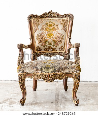 Vintage classical style Chair in white room