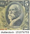 Vintage elements of paper banknotes, Pre-revolutionary Cuba - stock