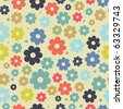 Vintage floral background. Jpeg version - stock vector