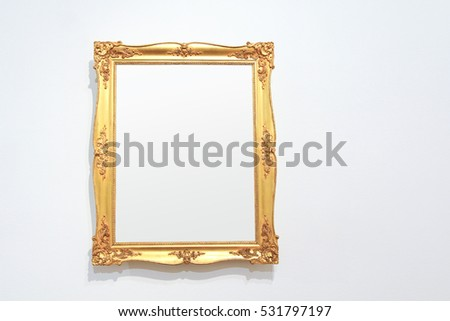 Vintage golden frame with blank copyspace