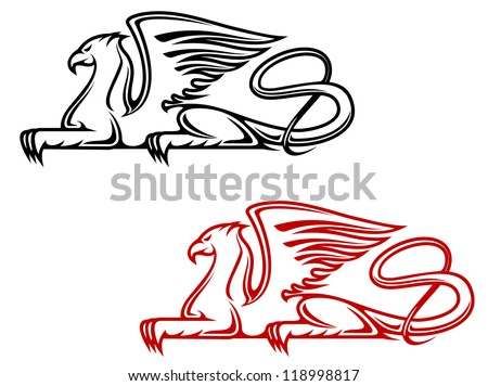 Vintage Griffin For Heraldic Or Tattoo Design Such A Logo