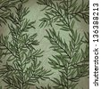 Vintage hand drawn background with rosemary plant. Raster version of the vector image - stock vector