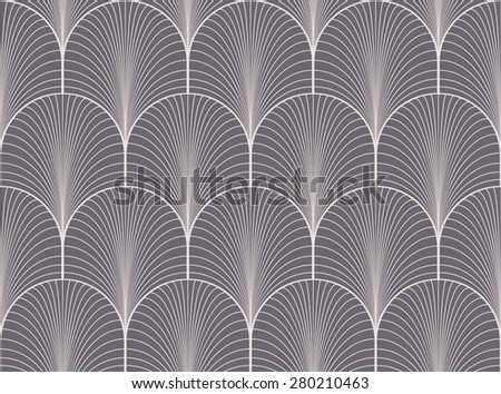 Vintage Seamless Anthracite Gray Art Deco Stock Vector