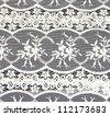 Vintage lace on black background - stock photo