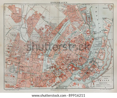 Original Map Egypt Nubia Line Colored Stock Photo - Vintage map of egypt