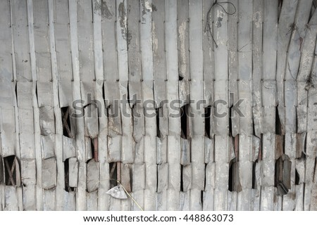 Oil Stained Old Corrugated Metal Wall Stock Photo 75726409