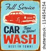 Vintage metal sign - Car Wash - JPG Version - stock photo