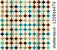 vintage mosaic seamless texture (raster version) - stock photo