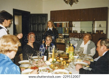 Vintage photo - family party, eighties