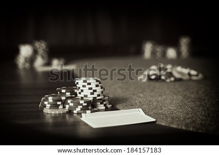 Vintage Poker / Vintage style photo from a poker table