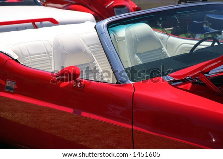 red leather upholstery luxurious car stock photo 55539145 shutterstock. Black Bedroom Furniture Sets. Home Design Ideas