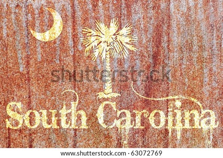 Vintage / Rusty South Carolina Flag concept
