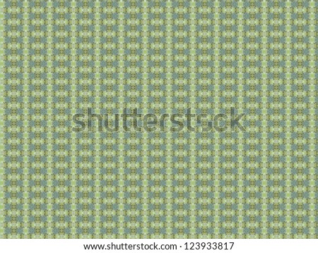 Vintage shabby background with classy patterns.  Geometric or floral pattern on paper texture in grunge style.