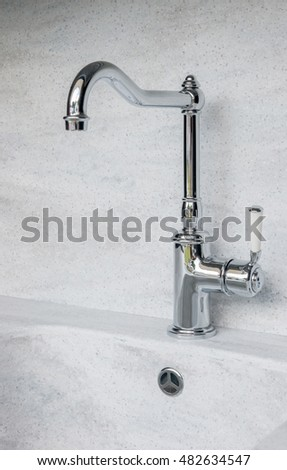 Old Fashioned Water Pump Above Drinking Stock Photo