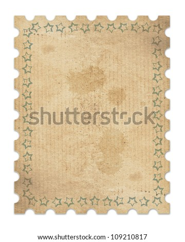 vintage stamp with clipping path