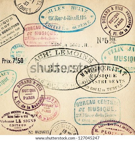 Vintage stamps background