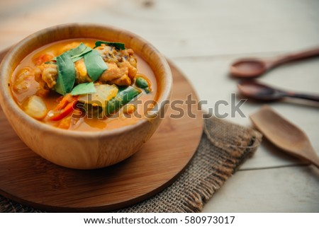 Vintage style thai traditional food roasted stock photo for Antique thai cuisine