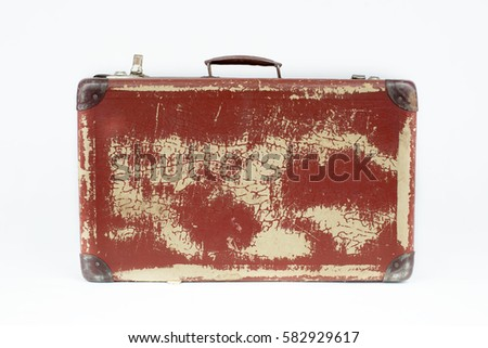 Vintage Suitcase Made Cardboard Hardware Selected Stock Photo ...