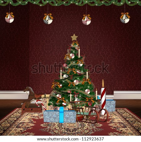 Tree toys Christmas with