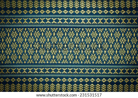 vintage traditional thai line art. fabric texture.