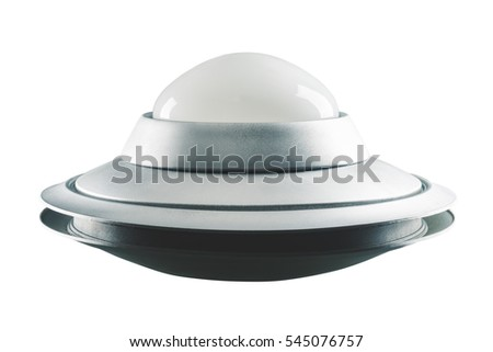Vintage UFO isolated on white