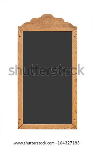 Vintage wood board - isolated on the white