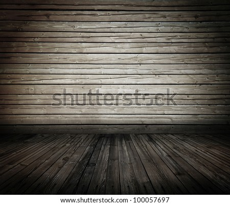 vintage wooden room, dirty background