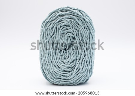 Violet cotton roll in white background