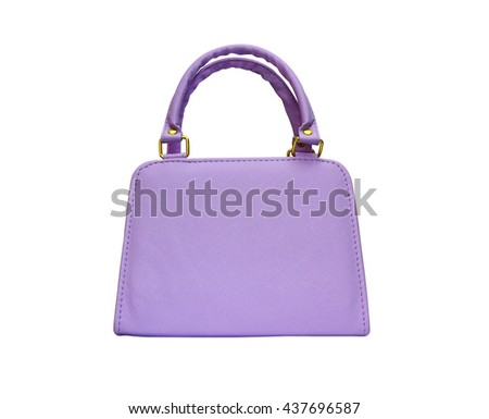 Violet woman purse isolated on white