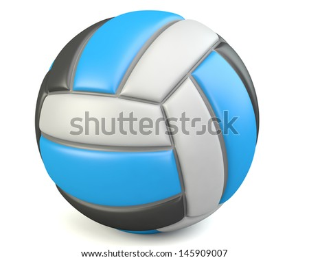 Volleyball isolated on white background. 3d illustration