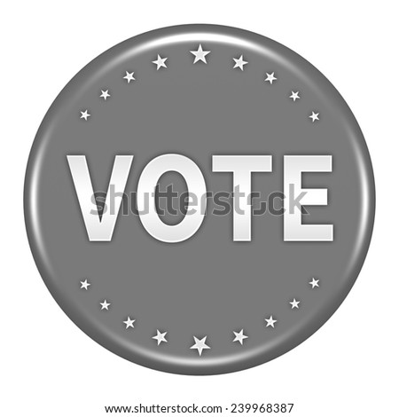 Vote Button Isolated on White