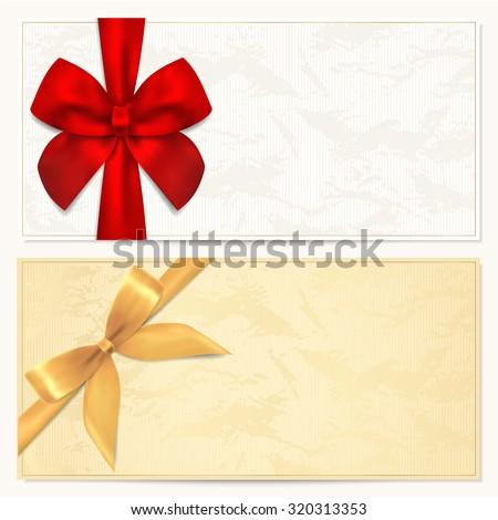 Gift Certificate Voucher Coupon Template Stars Vector – Ticket Voucher Template